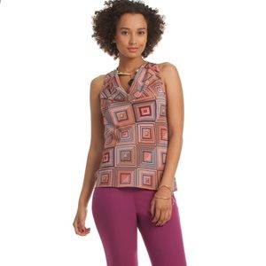 Trina Turk Silk Kourtney geometric top